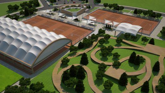 Спортен комплекс с тенис кортове и велопарк