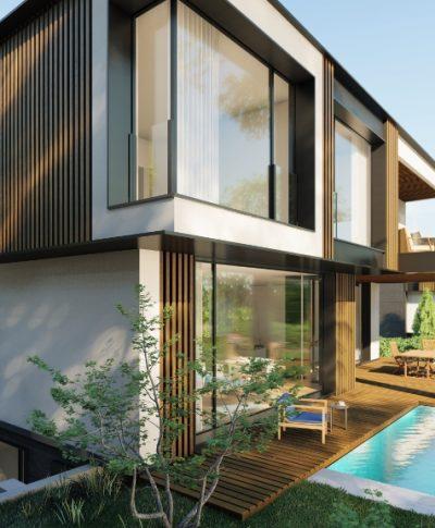 Къща с модерен дизайн
